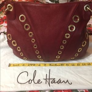 Cole Haan Red Leather Large Bag